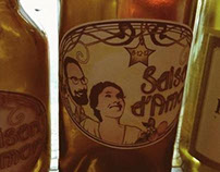 SAISON d'AMOR  home brew label design