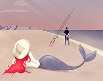 Keep Fishing | Digital Art