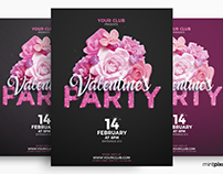 Valentine's Club Event Party Flyer Template