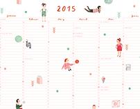 PAPETERIE –Wall Calendar 2015