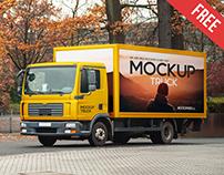 Truck – Free PSD Mockup
