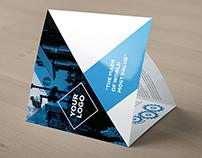 Nerorac Tri-fold Square Brochure Template