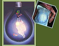 Rough Nostalgia: Firefly - Gouache on Canvas & T-Shirts