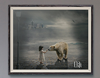 Child & White Bear
