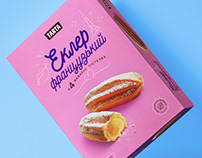 Tarta eclairs. Packaging