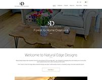 website home page mock up design