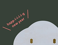 greeting card / happ-i-i-i-i-g new year