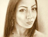 Portrait of a girl.Портрет девушки.