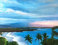 Hapuna Bay, Hawaii Painting