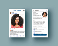 Instagram-themed Business Card