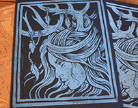 Midnight Huntress - Block Print
