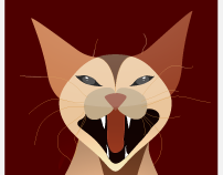 animal scream illustrations