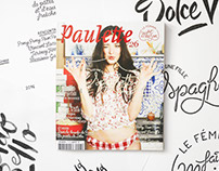 // Illustration & Typography Paulette Magazine #26 //