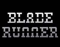 Lettering - Blade Runner