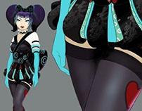 Character Design: Sci-Fi Harajuku Geisha