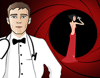 James Bond Medical Ball Invitation
