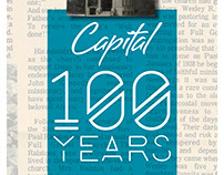 Capital 100 Year Anniversary Timeline Wall Display