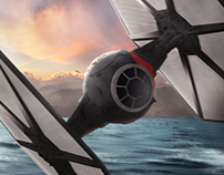 X-Wing vs. TIE Fighter / Force awakens fanart