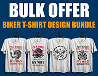 New Biker T-shirt Design Bundle