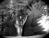 Raven Wings-Mountain Bike Gateway Sculpture