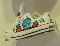 Abe Lincoln Jr. X Converse - Live Custom Sneakers