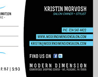 Modern Dimension | Business Cards