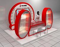 Telkomsel exhibition booth