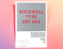 Rockwell Typographic Poster