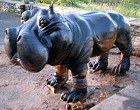 Seven Sisters Hippo Sculpture (small)