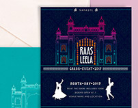 Event Invitation and Line Illustration of Mysore Palace