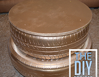 How to Recycle your old Tire into a DIY Golden Table