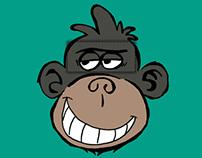 'Cheeky Monkey' tee