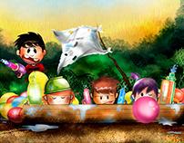 Balloons water war