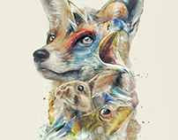 Classy Geek Painting Art of Star Fox