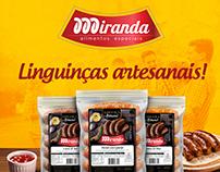 Rótulos Linguiças Artesanal Miranda