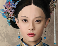 An imperial concubine in the Qing Dynasty