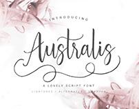 Australis - Handwritten Script Font