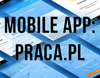 Mobile app design: Praca.pl - bachelor's degree project