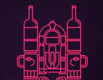 Neon Cathedral Poster Tribute