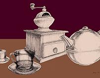 Ilustração - Tema: Café