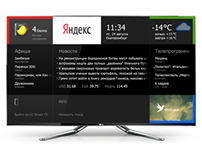 LG Smart TV widget for Yandex
