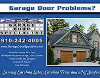 Carolina Garage Door Specialist - Postcard