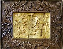 "Wall Art Wood carving ""Dream DRAGON"" MariyaArts"