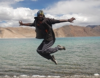 Road Trip ~ In the air @ Pangong Lake