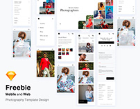 Freebie - Mobile and Web Photography Template