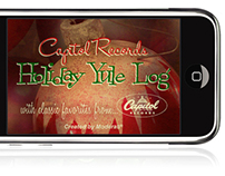 Capitol Records Holiday Yule Log iPhone App