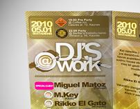 "2 side Flyer ""DJ'S @ WORK"""