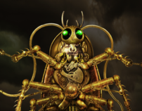 Steampunk Cockroach
