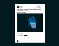 Twitter Post Mockup 2019