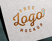 Free Gold / Silver Foil Textured Card Logo Mockup PSD
